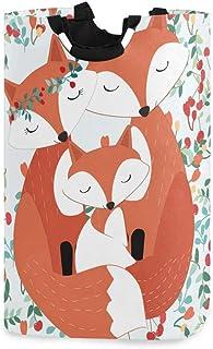 ALARGE Panier à linge mignon pour la Saint Valentin, motif feuilles de renard, pliable, durable, sac de rangement, poubell...