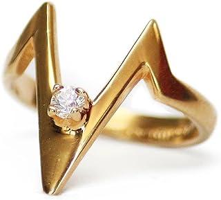 Providence 复古珠宝方晶锆石 18k 黄金电镀 V 形戒指