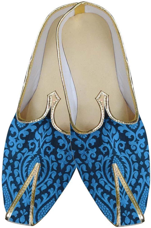INMONARCH Mens Royal bluee Wedding shoes MJ0082