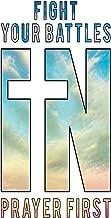 Fight Your Battles in Prayer First: Inspirational Prayer Notebook Gift