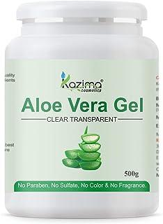 KAZIMA Aloe Vera Gel Raw - 100% Pure Natural Gel - Ideal for Skin, Face, Acne Scars, Hair Care, Moisturizer & Dark Circles...