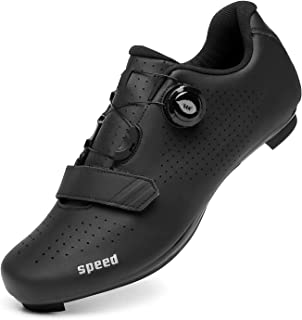 Cycling Shoes for Men Women Road Riding Shoes Rotating Shoe Buckle Breathable Cleat Compatible SPD Look Delta Indoor Cycli...