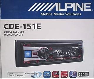 $97 » Alpine CDE-151E Single DIN CD USB AUX iPod Controller Car Stereo Receiver