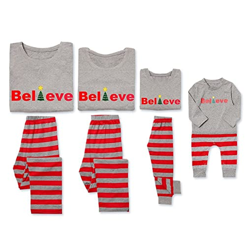 18a303a0e4 PatPat Dad Mom Baby Kids Family Matching Christmas Striped Pajamas Set  Sleepwear