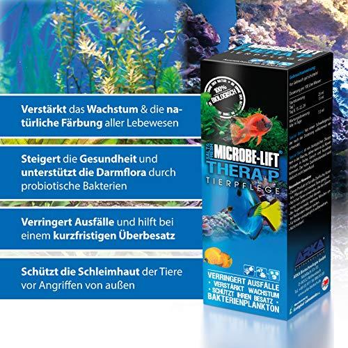 MICROBE-LIFT TheraP – (Qualitäts-Bakterienpräparat, zur optimalen Tierpflege in jedem Meerwasser & Süßwasser Aquarium, für optimale Gesundheit und Wachstum, reduziert Ausfälle, 100 % biologisch, Wasseraufbereiter, ausreichend für 50.400 Liter), 3785 ml - 3