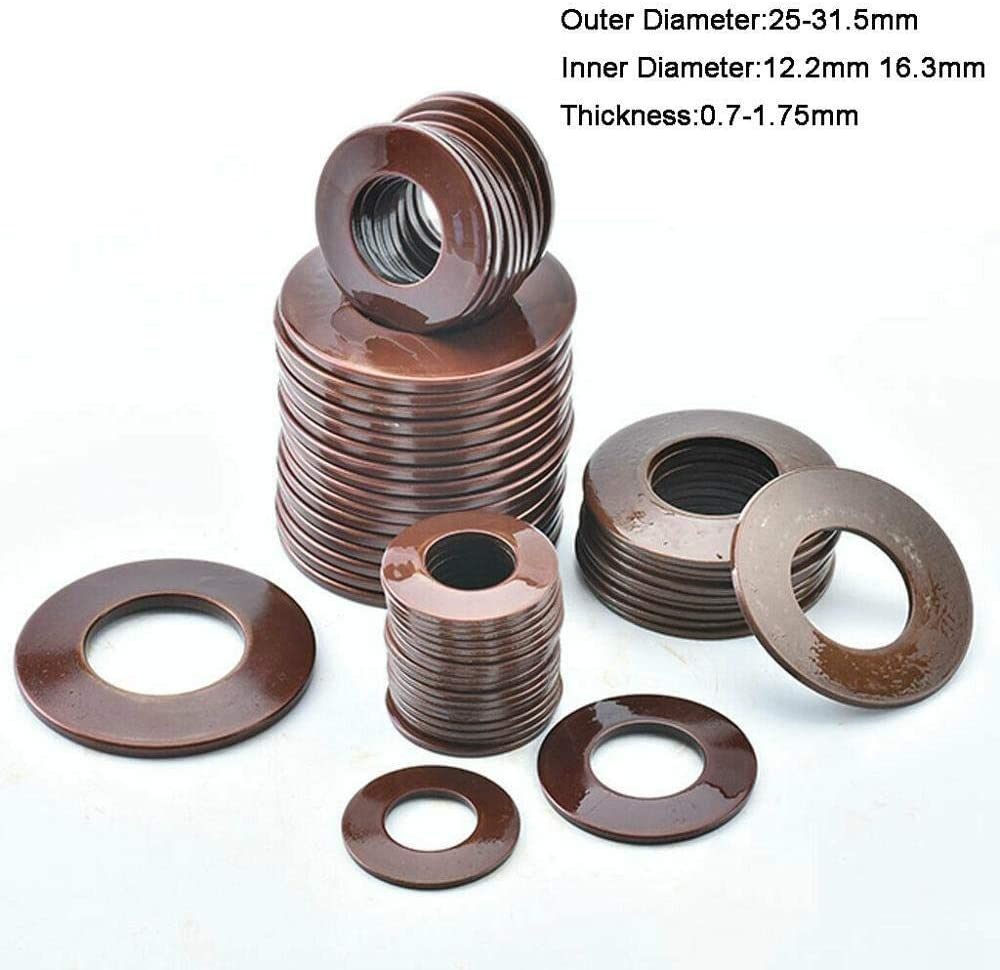 Length : 25 x 12.2 x 0.7mm Slinky Primavera 60Si2MnA Belleville Resorte de compresi/ón arandela c/ónica Di/ámetro externo 25-31.5mm interior Dia 12.2-16.3mm Espesor 0.7-1.75mm 10Pcs