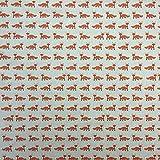 Füchse Baumwolle Rich Leinen Look Stoff für Vorhänge