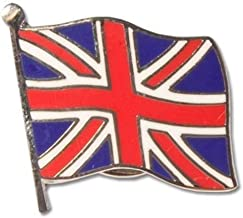 Union Jack on Pole Flag Pin Badge