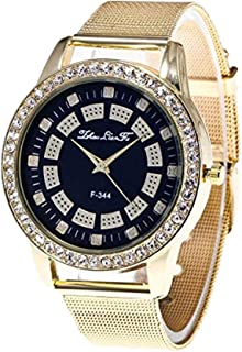 Triskye Womens Mens Unisex Analog Quartz Watches Business Casual Classic Luxury Stainless Steel Strap Band Round Trendy Wrist Watch Ladies Wristwatch Bracelet for Teen Girls