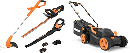 WORX 2-in-1 Trimmer & Edger Lawn Equipment Combo and 40 Volt Electric Lawn Mower
