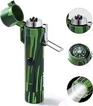 VEHHE Lichtboogaansteker, outdoor/waterdicht/winddicht/USB-oplaadbaar, met zaklamp en kompas, voor kamperen, wandelen, avo...