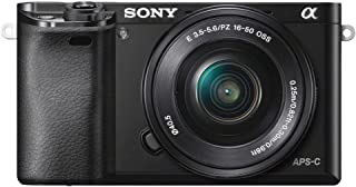 Sony A6000 - Cámara EVIL de 24 MP (pantalla de 3 estabilizador óptico vídeo Full HD WiFi) negro - Kit cuerpo con objetivo 16-50 mm