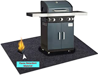 Under Grill Gear Flame Retardant Mats,Barbecue Grilling for Gas,Absorbing Oil Pads,Reusable Durable Washable Floor Mat Protect Decks ,Patios, Grease Splatter,Messes (Grill Mats:37.4inches x 40inches)