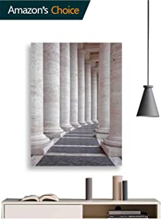 Canvas Wall Art, Roman Stone Columns Wall Decoration Painting Bedroom Wall Decor Office, Ready to Hang, 16W x 24H Inches(No Frame)