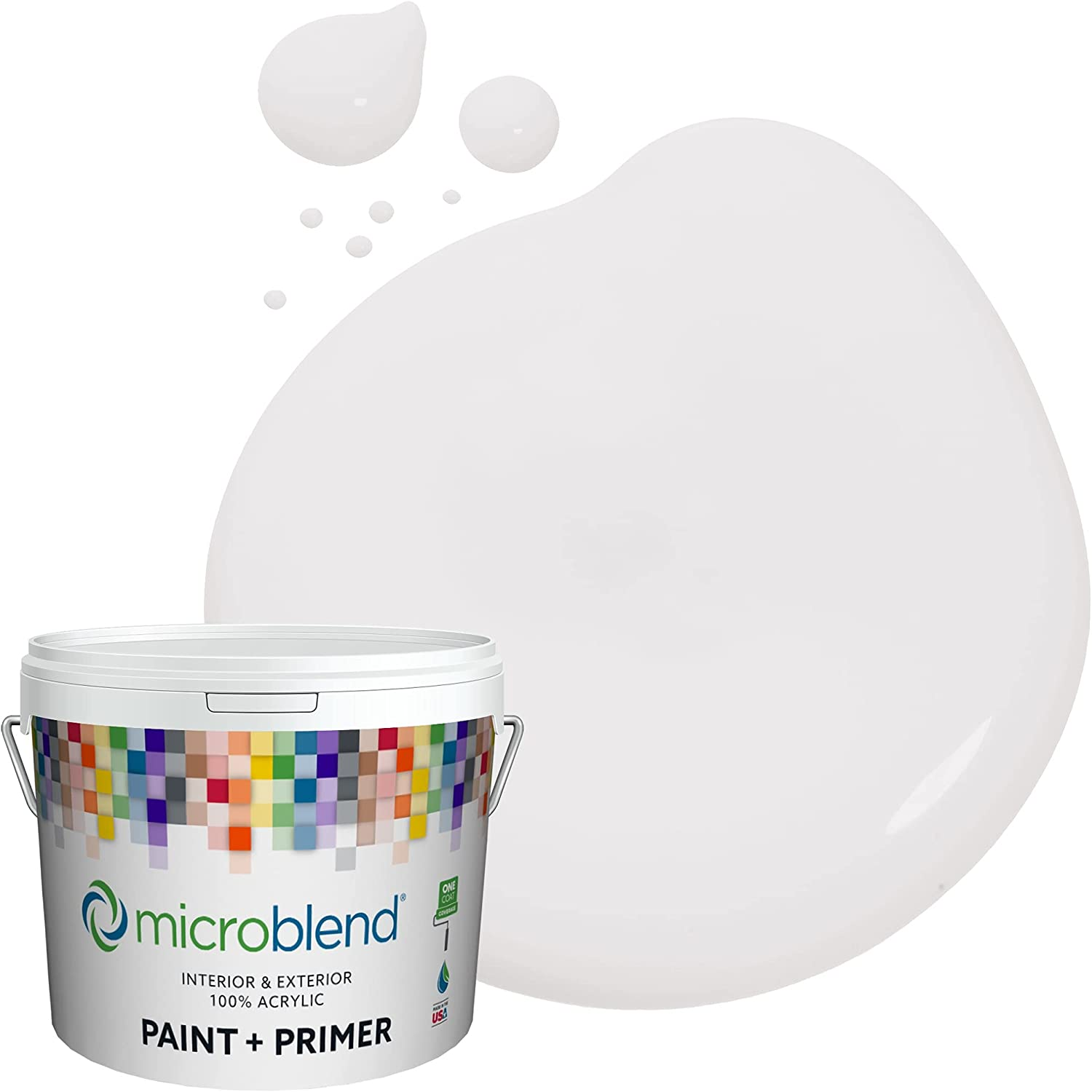 Microblend Exterior Daily bargain sale Paint and Primer Purple Almost White - overseas Lav