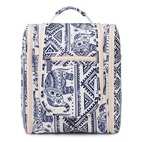 Bolsa de aseo colgante de viaje, organizador cosmético de maquillaje, para mujeres, niñas y niños, Elefante (Mediano), free,