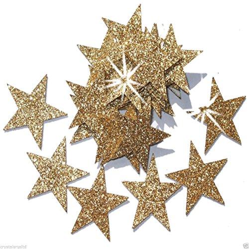 Zelfklevende glittersterren, sterrenstickers, om zelf te maken en creatieve ontwerpen van kaarten, Kerstmis, 25 mm