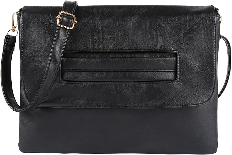 Leather Handbags Over Shoulder Bag Women Crossbody Girls Tote Bag Organizer Wristlet Clutch with Strap