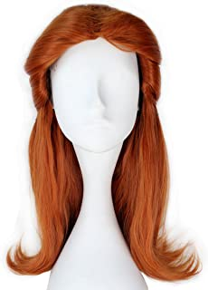 Miss U Hair Synthetic Girl Long Wavy Prestyled Brown Auburn Color Party Anime Cosplay Wig