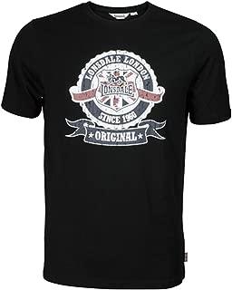 Men´s Slim-Fit Union Jack Target T-Shirt 100% Cotton Black