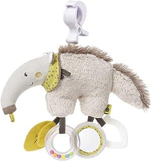Fehn 064124 Activity-Spieltier Ameisenbär / Motorikspielzeug zum Aufhängen mit Spiegel & Ringen zum Beißen, Greifen und Geräusche erzeugen / Für Babys und Kleinkinder ab 0 Monaten