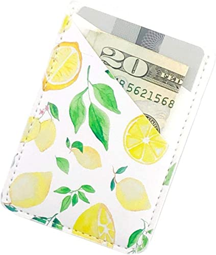 Ac.y.c Phone Card Holder, Ultra Thin PU Leather 3M Adhesive Stick-on ID Credit Card Wallet Sticker Case Pouch Pocket ...