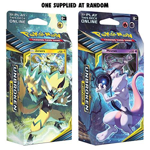 Pokemon POK81554 Pokémon TCG: Sonne und Mond 10 Unbroken Bonds Themendeck (eins nach Zufall), Mehrfarbig
