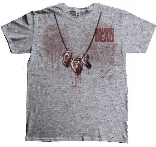 The Walking Dead - T-shirt Homme Dixon Ear Necklace - Blanc (White) - Large