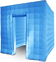 Happybuy 1 Doors Inflatable Photo Booth 8.2X 8.2ft Photo Booth Enclosure Portable LED Lights Photo Booth W/Fan Great for Parties Weddings Anniversary Birthdays Company Parties Special Events
