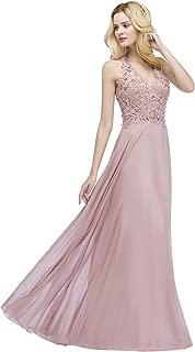 Babyonline V-Neck Emboridery Floral Lace Pearl Beading Slim Formal Dresses