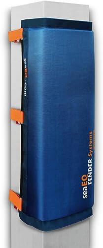 SeaEQ YACHTSPORT EQUIPPED seaeq Piquet de Yacht Sport Equipped Fender grand L, drap-housse Sangle Système PFS 810pour poteaux, dalben Fender, port moyennes Fender PF 40 80bleu L