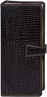 Laveri Unisex Business Card and Credit Card Book Holder - Leather, Black
