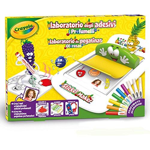Crayola- Laboratorio Profumelli Set per Creare Adesivi Profumati, Multicolore, BAMBINO, 25-7247