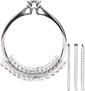 Vancool (18pcs) Ring Size Adjuster(1.5mm/2mm/3mm)Perfect for Loose Ringswith Ring Polishing Cloth
