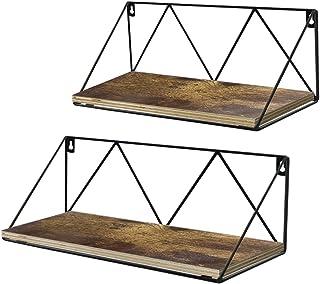UMI. by Amazon Estantes flotantes rústicos montados en la Pared para baño Dormitorio o Cocina Juego de 2