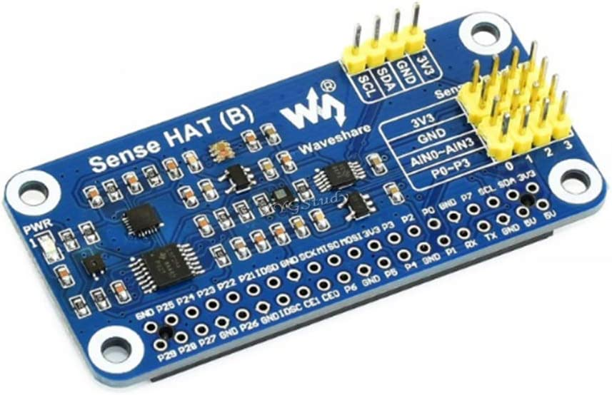 XYGStudy for Raspberry Pi Sense HAT (B) Onboard Multi Powerful Sensors Including Gyroscope Accelerometer Magnetometer Barometer Temperature and Humidity Sensor I2C Interface Supports External Sensors