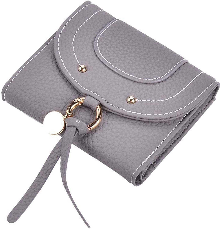 Girls Purse Women's Wallet Lady's Purse Pu Skin Mini Hand Clip Buckle Bag (color   C)