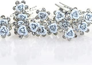 light blue flowers for hair