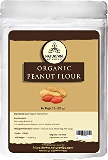 Naturevibe Botanicals Organic Peanut Flour, 2lbs | Non-GMO, Vegan and Gluten Free | Rich in Protein (32 ounces)
