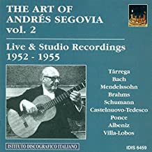 The art of Andrés Segovia - Studio & Live Recordings 1952 > 1955