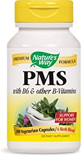 Nature'S Way - Pms With B6 & Other B-Vitamins 418 Mg. 100 Vegetarian Capsules 53731