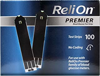 ReliOn Premier Blood Glucose Test Strips, 100 Ct (2 pk)