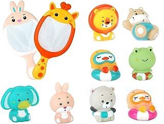 Sotodik Baby Bath Toys, Water Spray Cartoon Animals Floating Bath Toys for Kids Toddler Baby Boys Girls Fish Net Fun Learn...