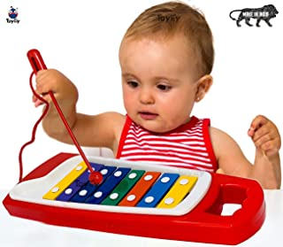 Toyify Educational Xylophone Toys for Kids, Babies,Children Suitable for Age Group of 2 Year & Up | Made in India Toys | 100% Non Toxic Safe Baby Toys| Best Gifts for Small Children (Red)