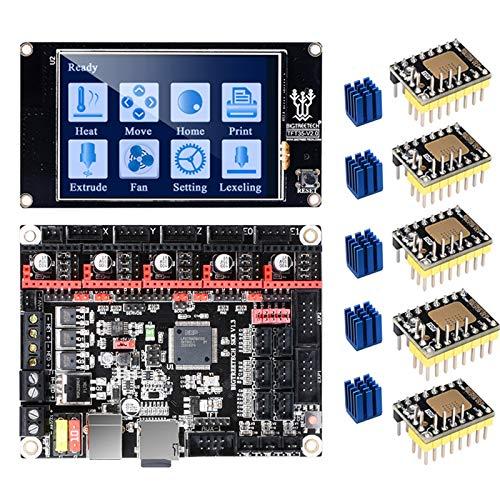 PoPprint SKR V1.3 - Placa base de CPU de 32 bits con pantalla táctil TFT35 V2.0 y 5 piezas TMC2130 V3.0 SPI para MKS GEN L TMC2209