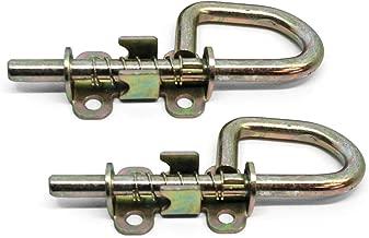 Doors & Door Hardware Loop Style Spring Locking Barrel Bolts for sheds, gates, doors - 1 pair