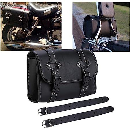 1x Motorrad Satteltaschen Leder Wasserdichte Platz Satteltasche Seitliches Brot Werkzeugkasten Speicherpaket Gepäcktasche Universal Auto