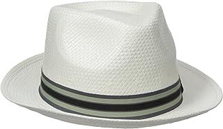 Original Penguin Men's Solid Color Straw Fedora Hat