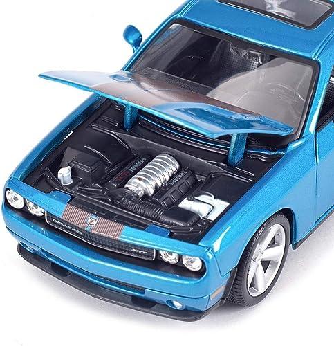 orden ahora con gran descuento y entrega gratuita YaPin Model Car 1 1 1 24 2008 Dodge Challenger Simulación Aleación de Coche Modelo de Coche Decoración Regaño de Cumpleaños Novia 19x8.4x5.5 CM Modelo de Coche  venta al por mayor barato