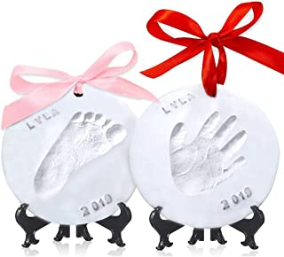 Baby Handprint Footprint Ornament Keepsake Kit – Personalized Baby Prints Ornaments..